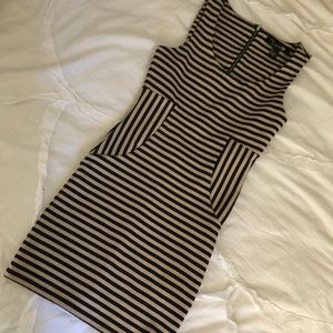 Forever 21 stripped bodycon dress